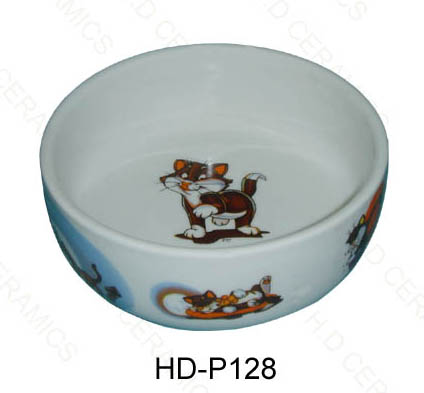 Ceramic pet feeder cat bowl