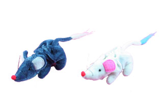 Cat toy-plush mouse