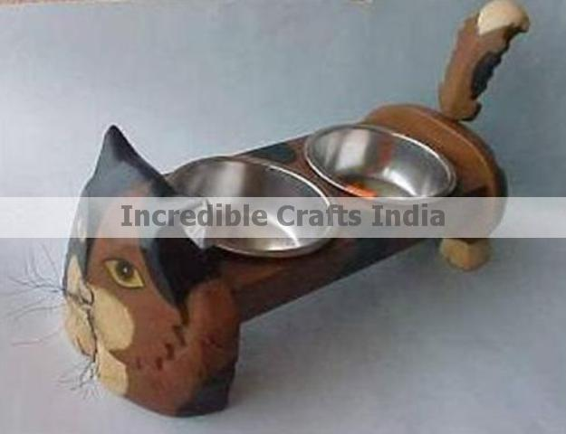 WOODEN CAT ELEVATED FEEDERS