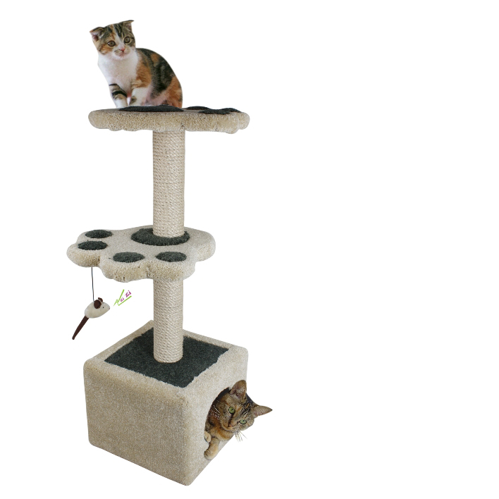 pet products/Cat Scratcher tree w/leaves decoration(YS72202)