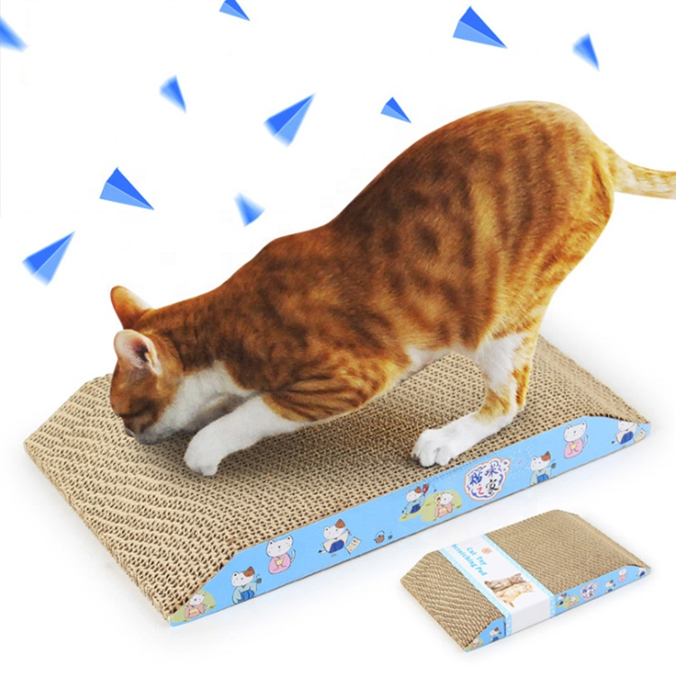 Wholesale ladder-shaped corrugated cardboard pad cat scratching toy