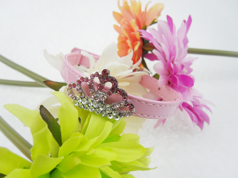 cat collar with crystal luxury crown